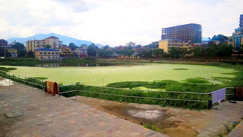 File - A view of Kamal Pokhari, a pond in Kathmandu, on Friday, July 8, 2016. Photo: Suresh Chaudhary/THT