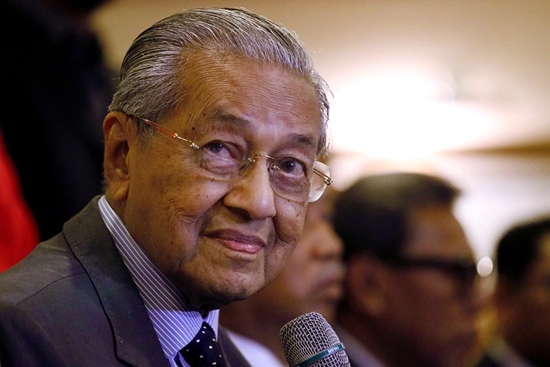 Malaysia's Prime Minister Mahathir Mohamad speaks during a news conference in Putrajaya, Malaysia, July 15, 2019. Photo: Reuters