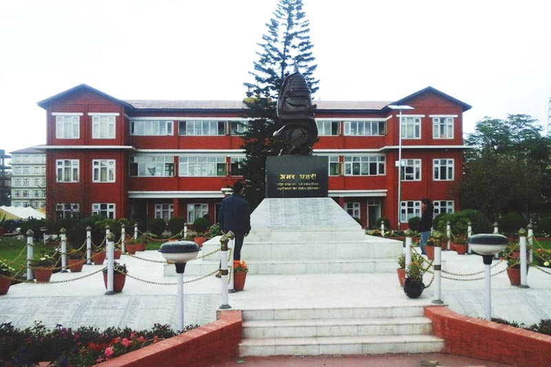 This undated image shows the building of Nepal Police Headquarters in Naxal, Kathmandu.