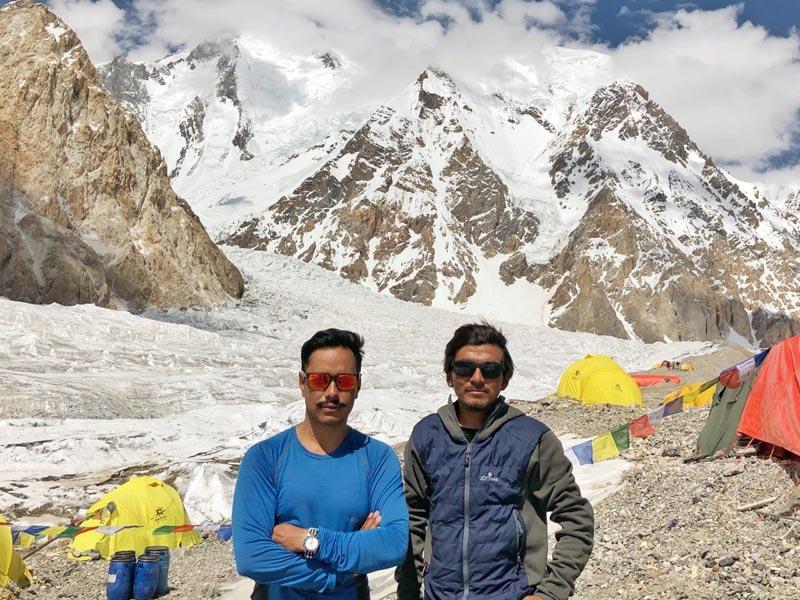 Nirmal u0091Nimsu0092 Purja and Mingma David Sherpa at the base camp before heading for G1 and G2 summit. Photo Courtesy: Mingma DavidnSherpa