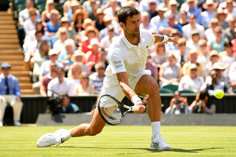 Novak Djokovic in action. Photo: Reuters