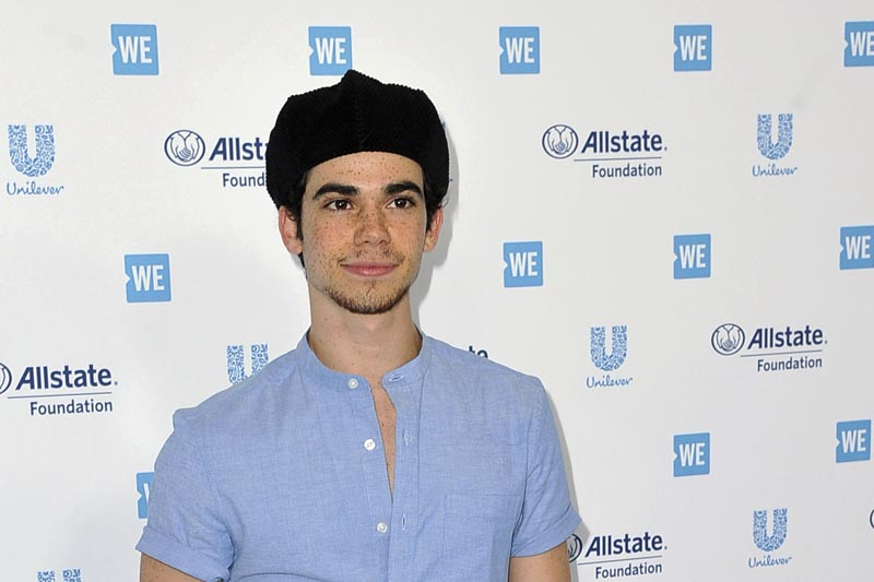 Cameron Boyce arrives at WE Day California at The Forum in Inglewood, California on April 25, 2019. Photo: AP