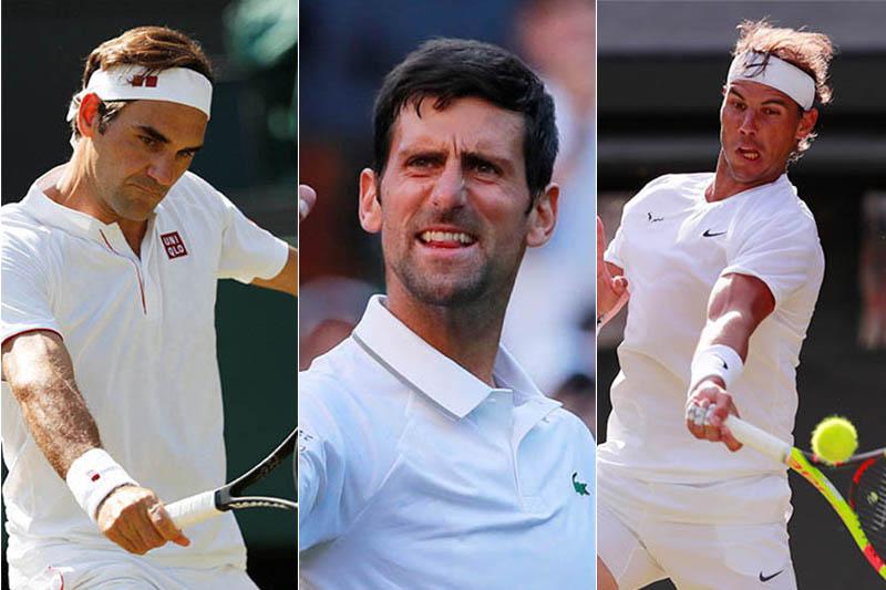 FILE: Switzerland's Roger Federer (left), Serbia's Novak Djokovic (centre) and Spain's Rafael Nadal. Photos: Reuters