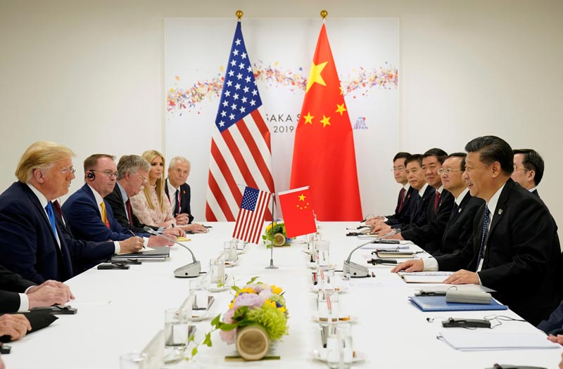 FILE: US President Donald Trump attends a bilateral meeting with China's President Xi Jinping during the G20 leaders summit in Osaka, Japan, June 29, 2019.Photo: Reuters
