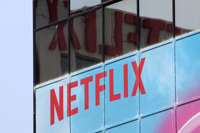 FILE PHOTO: The Netflix logo is seen on their office in Hollywood, Los Angeles, California, U.S. July 16, 2018. Photo: Reuters