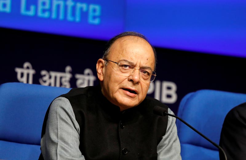FILE - Indian Finance Minister Arun Jaitley speaks at a news conference in New Delhi, India, on January 24, 2018. Photo: Reuters/File