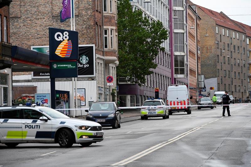 Danish police is seen outside a local police station, following an explosion in Copenhagen, Denmark, August 10, 2019. Photo: Ritzau Scanpix/Philip Davali via Reuters