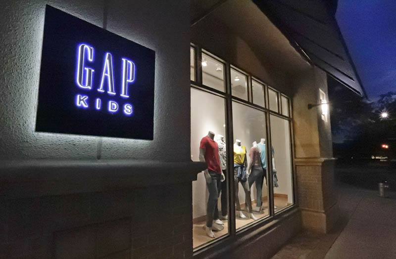 A window display at a Gap Kids clothing store in Winter Park, Florida, August 23, 2018. Photo: AP/File