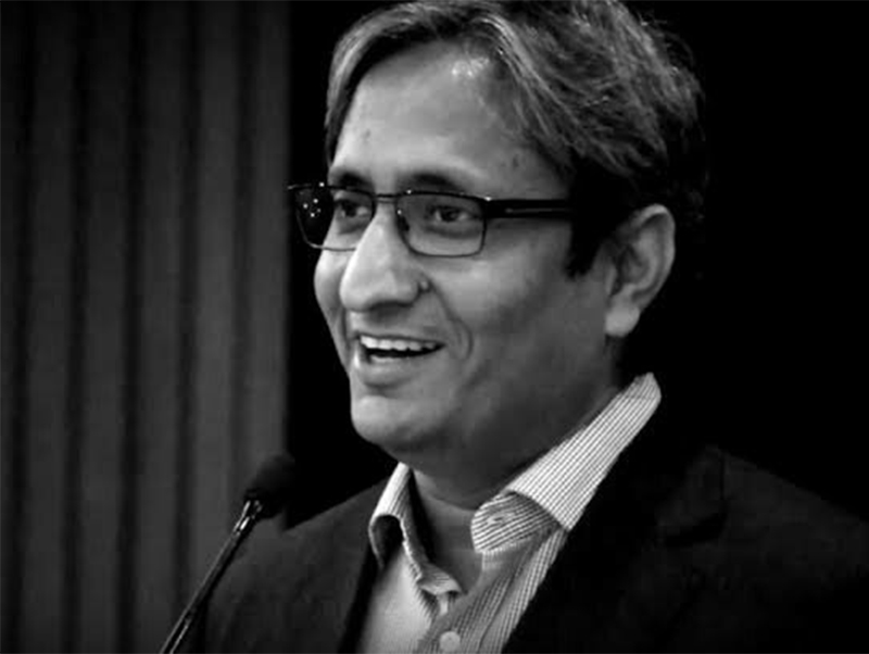 This undate image shows Indian Journalist Ravish Kumar. The 44-year-old award winner is NDTV Indiau2019s senior executive editor and one of Indiau2019s most influential TV journalists. Photo courtesy: Twitter@SirajUd35944942