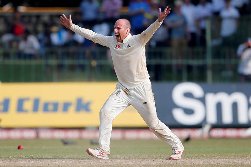 FILE: England's Jack Leach in action. Photo: Reuters