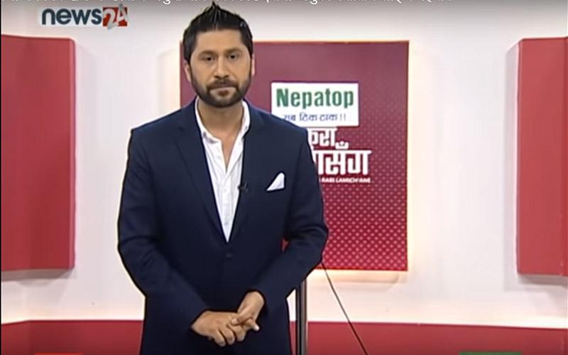 Journalist and TV Presenter Rabi Lamichhane. Photo Courtesy: Youtube/News24