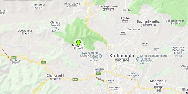 Nagarjun Municipality, Kathmandu. Photo: Google Maps