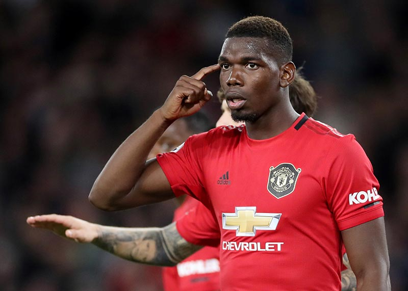 Manchester United's Paul Pogba reacts after Wolverhampton Wanderers' first goal during the Premier League match between Wolverhampton Wanderers and Manchester United, at Molineux Stadium, in Wolverhampton, Britain, on August 19, 2019. Photo: Action Images via Reuters