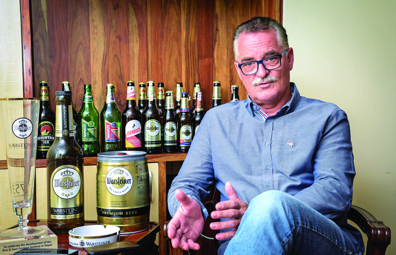 An interview with Thomas Noesner,Technical Director of Warsteiner. Photo: Naresh Shrestha/THT