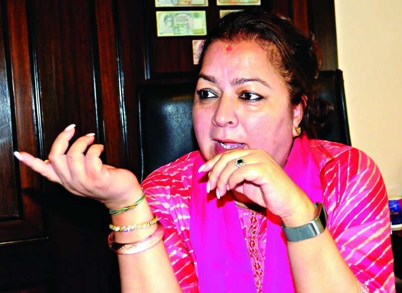 Shreejana Rana, Executive Director of Hotel de l' Annapurna in Kathmandu on Monday. Photo: Balkrishna Thapa Chhetri/THT