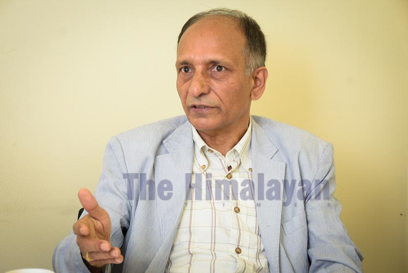 Interview with Sushil Ghimire. Photo: Naresh Shrestha /THT