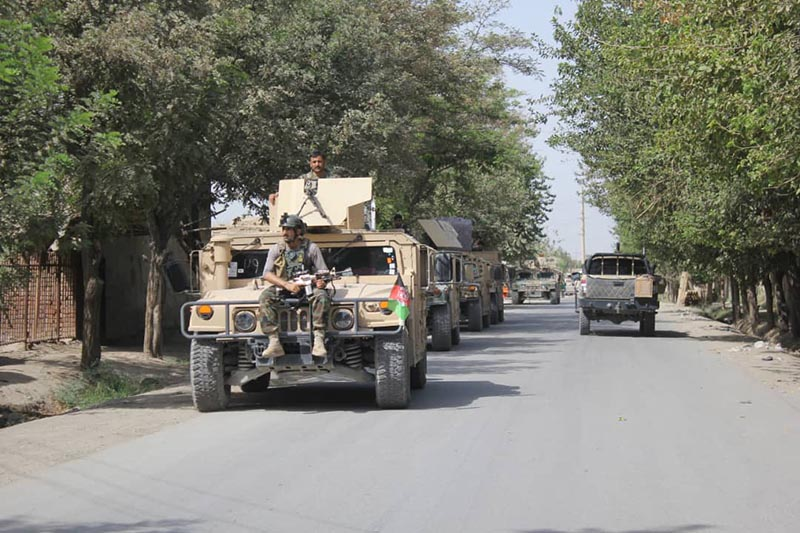 Afghan security forces arrive during a fight against Taliban fighters in Kunduz province north of Kabul, Afghanistan on August 31, 2019. Photo: AP