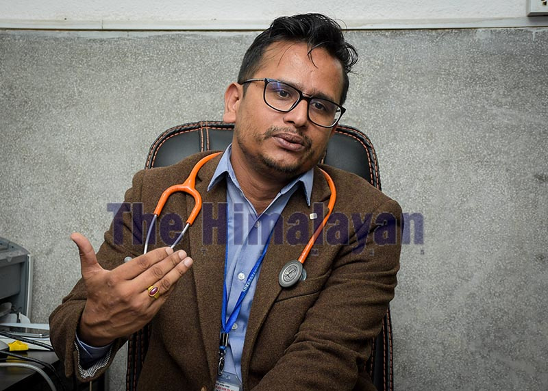 Interview with Dr Anup Bastola. Photo: Naresh Shrestha/ THT
