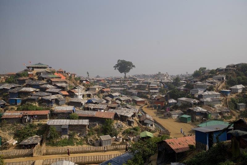 Balukhali refugee camp near Cox's Bazar, in Bangladesh, Nov 17, 2018. Photo: AP/File