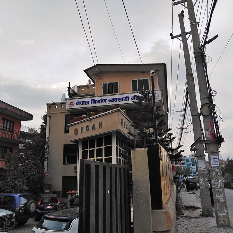 A view of Federation Of Contractors' Associations Of Nepal (FCAN) building in Kathmandu. Photo: Sandeep Sen/ THT Online