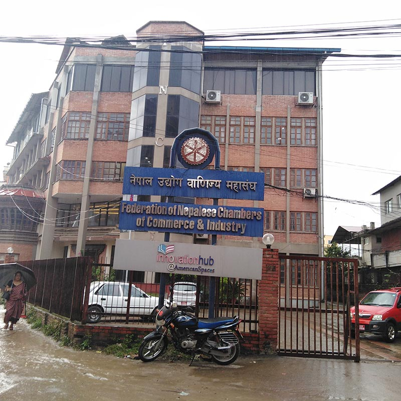 A view of Federation of Nepalese Chambers of Commerce & Industry (FNCCI)  in Kathmandu, Nepal. Photo: Sandeep Sen/ THT Online