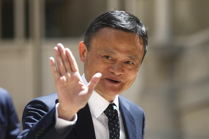 FILE - In this May 15, 2019, file photo, founder of Alibaba group Jack Ma arrives for the Tech for Good summit in Paris. Photo: AP