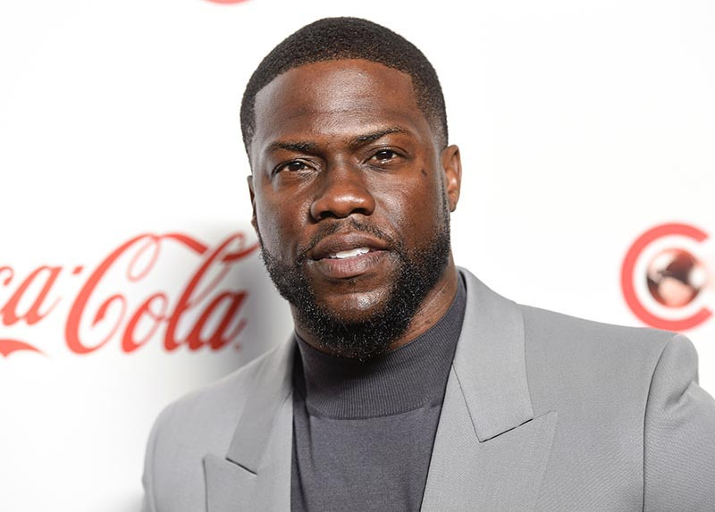 Kevin Hart poses for photos at the Big Screen Achievement Awards at Caesars Palace in Las Vegas. Hart has been injured in a car crash in the hills above Malibu on Sunday on September 1, 2019. File Photo: AP