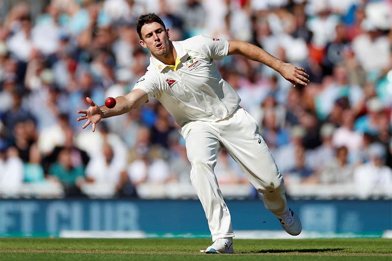 Australia's Mitchell Marsh in action. Photo: Reuters