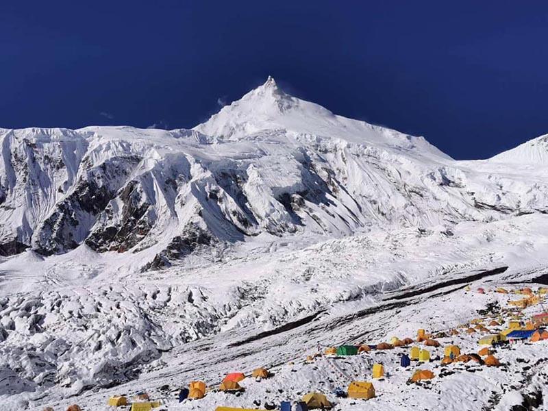 Mt Manaslu base camp. Photo Courtesy: Nima Namgyal Sherpa