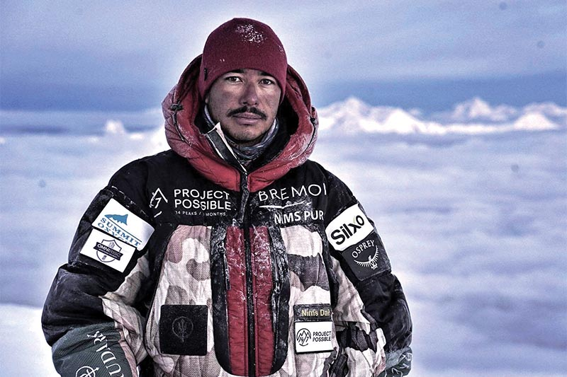 Nirmal Purja on the way to the top of Manaslu, on Friday, September 27, 2019.