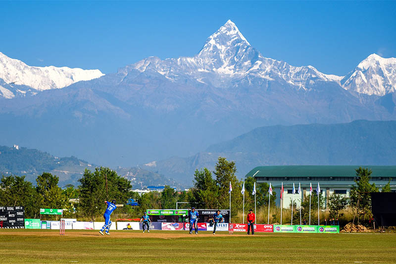 Players in action during the first edition of PPL in Pokhara. Courtesy: Chhumbi Lama