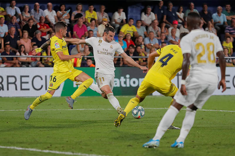 Real Madrid's Gareth Bale scores their second goal. Photo: Reuters