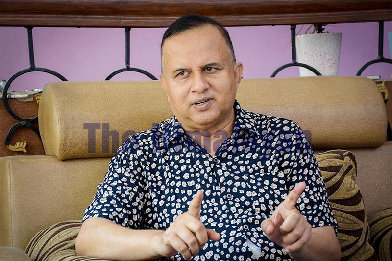 Interview with Province 5 Chief Minister Shankar Pokhrel, on Monday, September 9, 2019. Photo: Naresh Shrestha/THT
