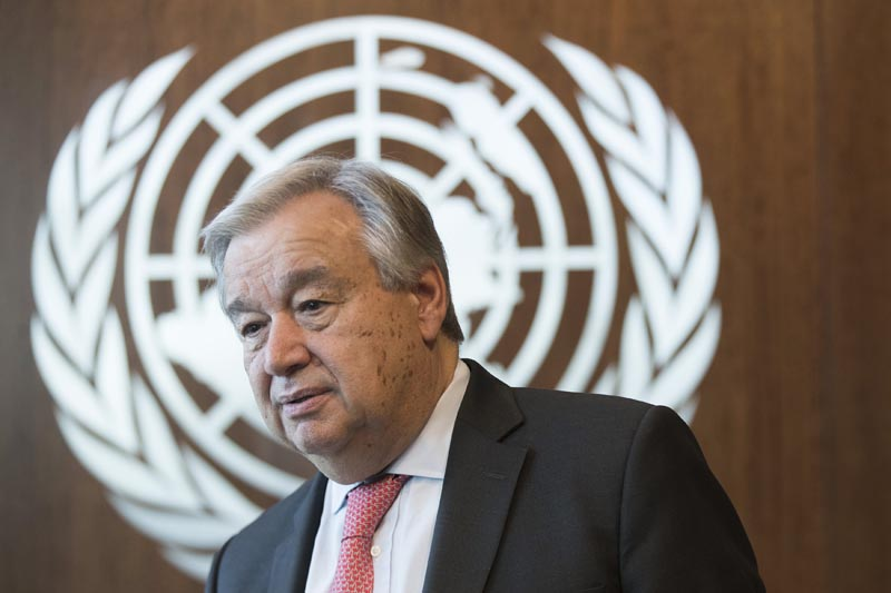 United Nations Secretary-General Antonio Guterres is photographed during an interview at United Nations headquarters, May 7, 2019. Photo: AP/File