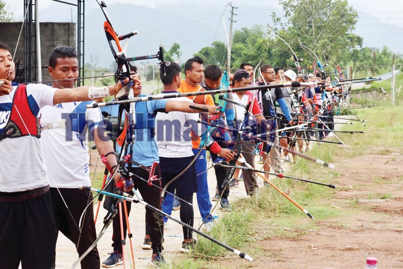 Archers taking part in selection tournament. Photo: THT