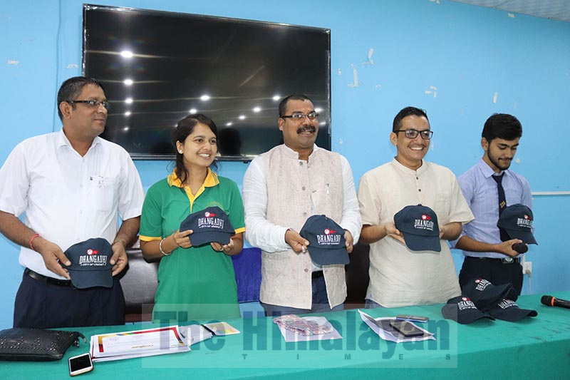 Launch of a cap with the message u2018Dhangadhi - City of Cricketu2019, in Dhangadhi, on Thursday, September19, 2019. Photo: Tekendra Deuba/THT