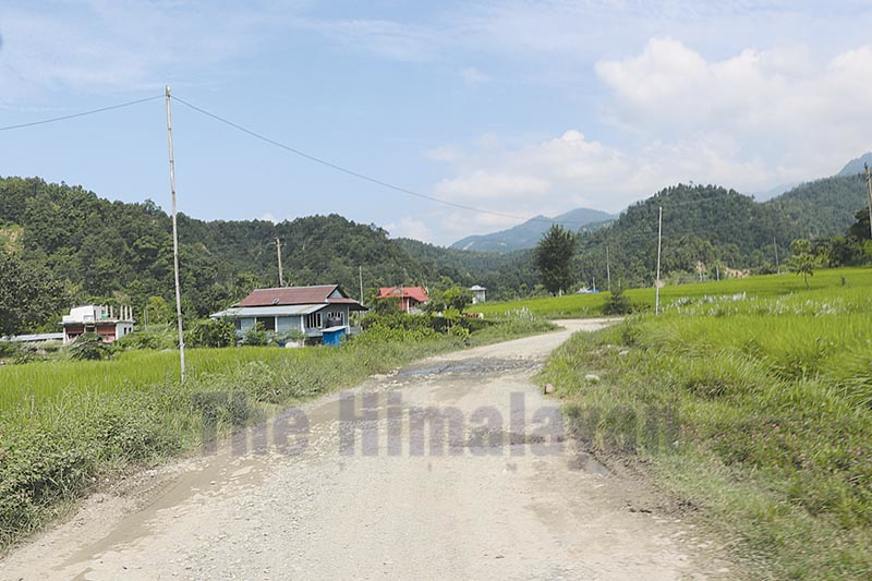 A view of an under-construction rural road at Keraberi Rural Municipality, in Morang, on Monday.u00a0 The 15-km stretch will establish direct road link between Sunsari and Morang. Photo: THT