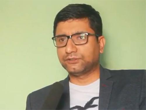 This undated image shows Ajaya Babu Shiwakoti, editor at  hamrakura.com. Photo courtesy: hamrakura.com