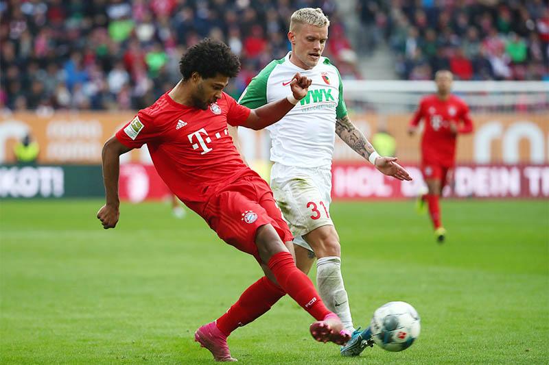 Bayern Munich's Serge Gnabry scores their second goal. Photo: Reuters