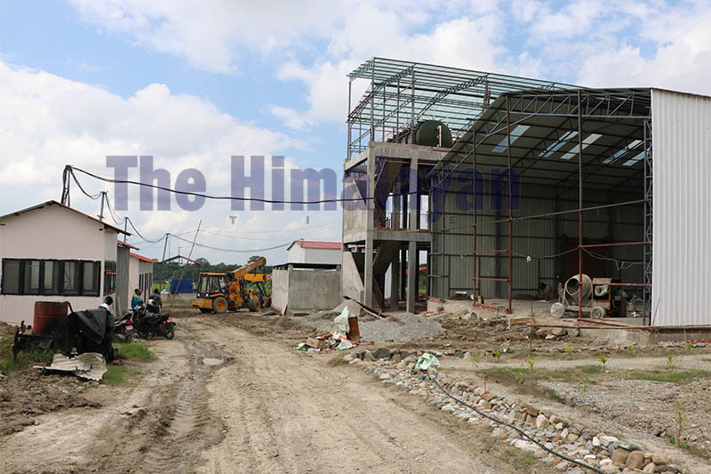 A view of Biogas plant installation site in Dharan-6 of Sunsari district, on Wednesday, October 02, 2019. Photo: Santosh Kafle/THT