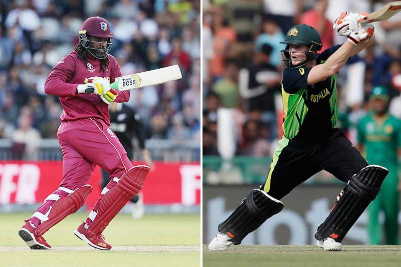 FILE: West Indies batsman Chris Gayle and Australia's Steve Smith. Photo: Reuters