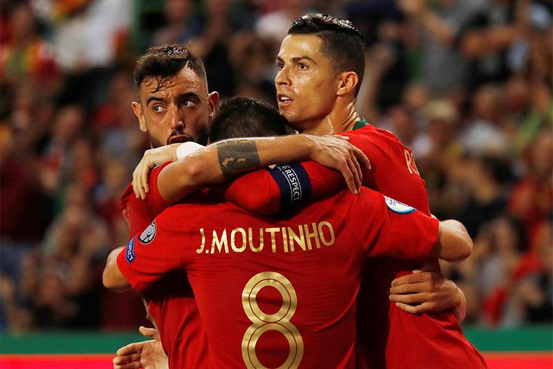 Portugal's Cristiano Ronaldo celebrates scoring their second goal. Photo: Reuters