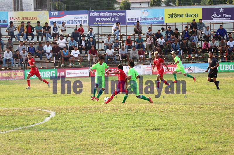 Players in action. Photo: Tilak Ram Rimal/THT