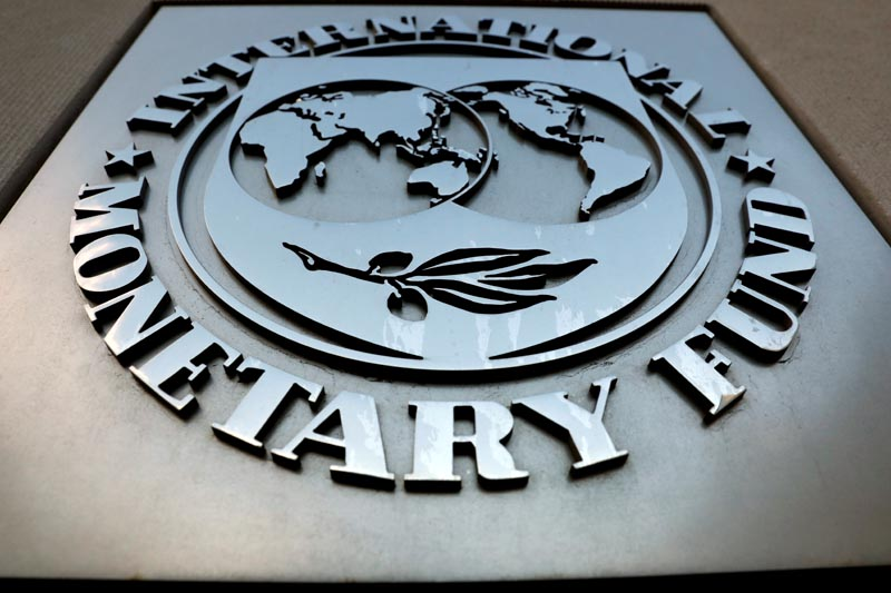 FILE - The International Monetary Fund (IMF) logo is seen outside the headquarters building in Washington, US,September 4, 2018. Photo: Reuters