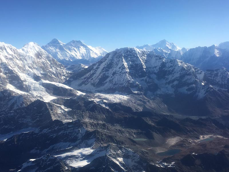 Snow-capped mountains located in Mahalangur Himal sub-range as captured on Tuesday, October 22, 2019. Photo Courtesy: Jenny Sherpa Rai