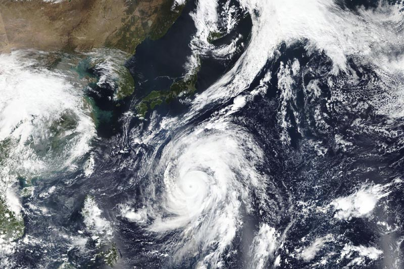 The picture shows typhoon Hagibis approaching Japan, as taken on Oct 9, 2019.  Japanu0092s weather agency is warning a powerful typhoon may bring torrential rains to central Japan over the weekend. Photo: NASA Worldview, Earth Observing System Data and Information System (EOSDIS) via AP