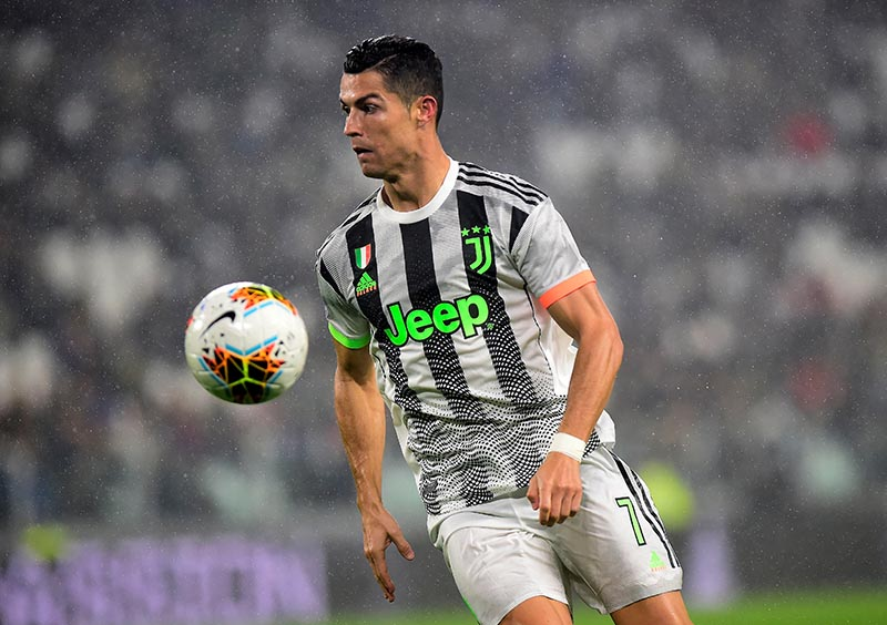 Juventus' Cristiano Ronaldo in action during the Serie A match between Juventus and Genoa, at Allianz Stadium, in Turin, Italy, on October 30, 2019. Photo: Reuters