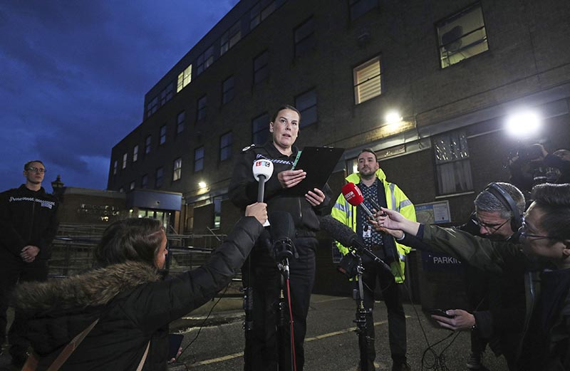 Deputy Chief Constable Pippa Mills speaks to the media during a press conference at Grays Police Station in Essex Friday, Oct. 25, 2019, after a man and a woman, both aged 38 and from Warrington, have been arrested on suspicion of manslaughter and conspiracy to traffic people in connection with the 39 bodies found in a lorry in Essex on Wednesday. Photo: AP