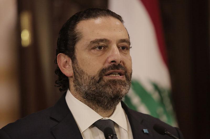 Lebanese Prime Minister Saad Hariri speaks during an address to the nation, in Beirut, Lebanon, Friday, Oct 18, 2019. Photo: AP
