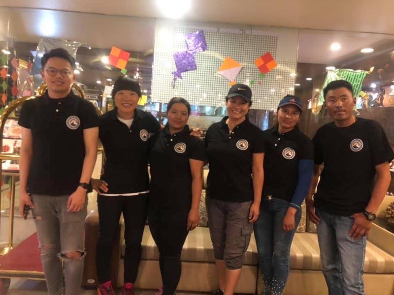 Linku Chuli 2 expedition members. Photo: Facebook